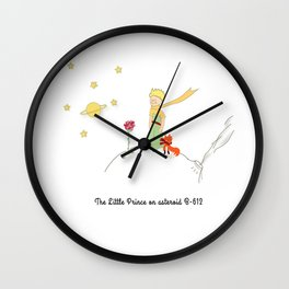 The Little Prince, on asteroid Wall Clock