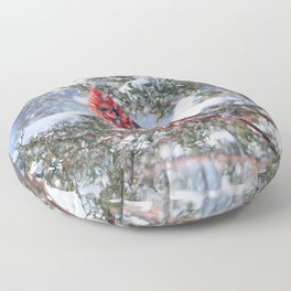 Let It Snow (Northern Cardinal) Floor Pillow