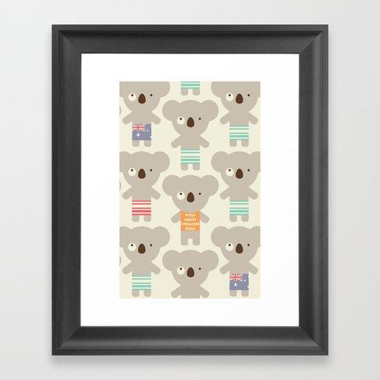 Koala-lala Framed Art Print