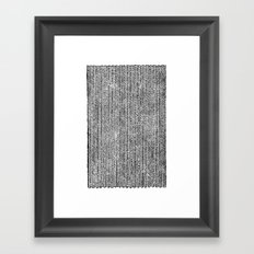 Stockinette Black Framed Art Print
