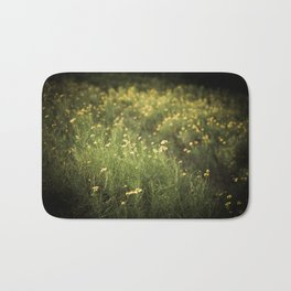 field of yellow flowers. Bath Mat
