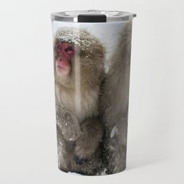 two snow monkeys Travel Mug
