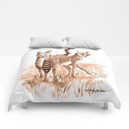 Sisters (Servals) Comforters