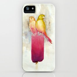 Raspberry Canary Popsicle iPhone Case