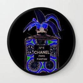 Iconic Perfume: Banana Pop-Art Fashion Illustration Wall Clock