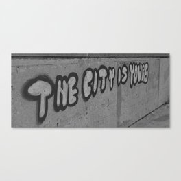 The City is Yours Canvas Print