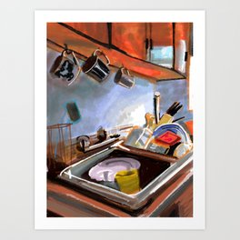 Kitchen Sink Art Print