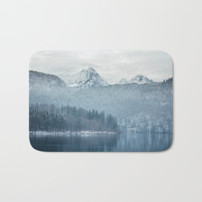 Lake and mountains - Bavarian Alps Bath Mat