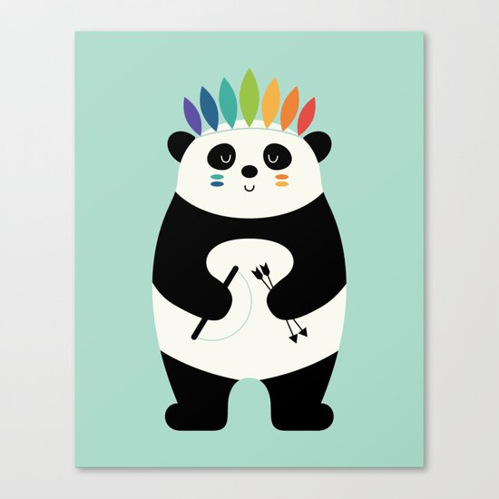 Be Brave Panda Canvas Print