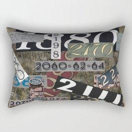 House Numbers Rectangular Pillow