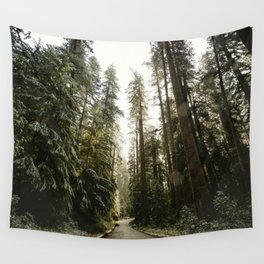 Redwood Forest Adventure III - Nature Photography Wall Tapestry