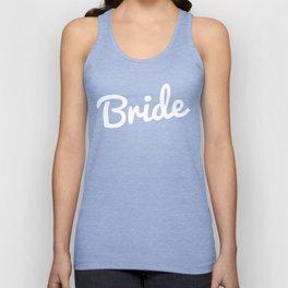 Bride Wedding Quote Unisex Tank Top