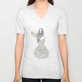 Flower Girl - pattern Unisex V-Neck