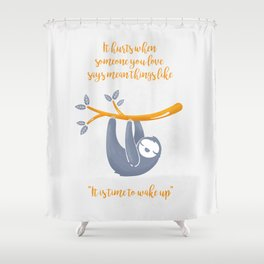 Sleeping is the best thing! Shower Curtain