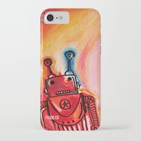 get shit done iPhone & iPod Cases featuring Robots Get Shit Done by The Fem Fox