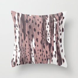 Rose and Dark Violet Throw Pillow