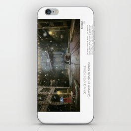 """Brooklyn"" in words & image (M.Konecka) iPhone Skin"