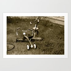 Tricycles  Art Print