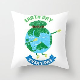 Earth Day Every Day Save the Planet Throw Pillow