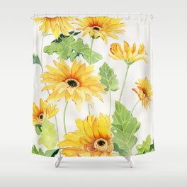 Beautiful Yellow Gerbera Shower Curtain