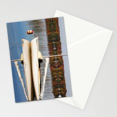 Sailboat on Quiet Lake in Autumn Stationery Cards