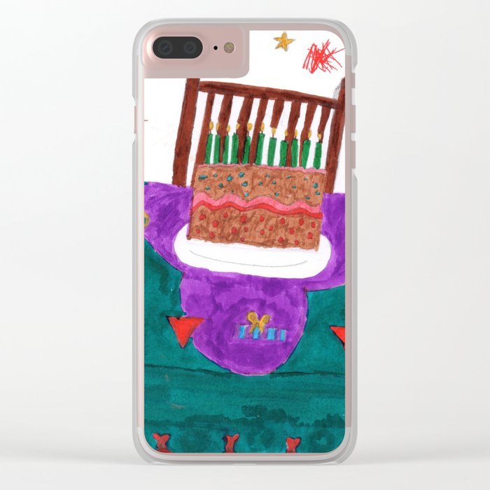 Happy Yummy Birthday Clear iPhone Case