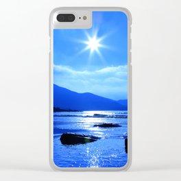 Beach In Blue Clear iPhone Case