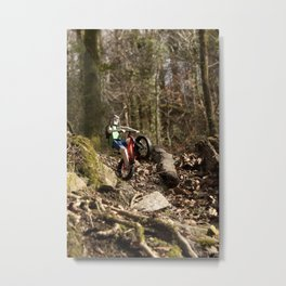 Where we're going we don't need roads Metal Print