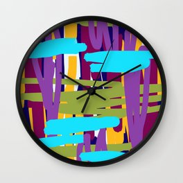 Muted Linear Abstract Wall Clock