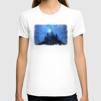 castle in the sky T-shirts featuring Mystical castle by Pirmin Nohr