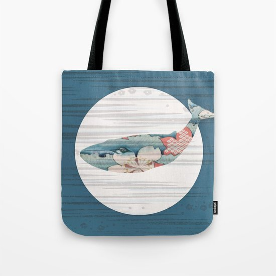 Whales and Polka Dots Tote Bag