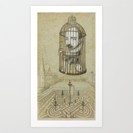 Michel Du Montaigne (1533 - 1592) An Inspirational Philosopher; Prison in the Sky Art Print
