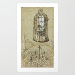 Michel Du Montaigne (1533 - 1592) An Inspirational Philosopher; Prison in the Sky Art Print