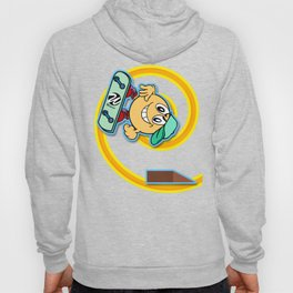 Skater Cartoon Character Looping over Green Background Hoody
