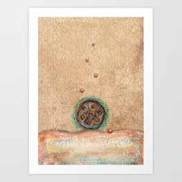 Seed Pod with Pearls Art Print