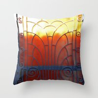 door Throw Pillows featuring Door by aeolia
