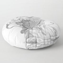 Astro Babe B&W Floor Pillow