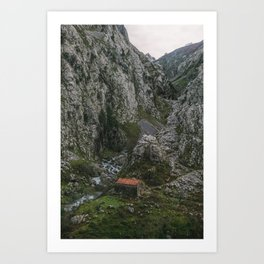 Old stone cabin, 2017 Art Print