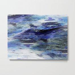 Watered Wood Impression Metal Print