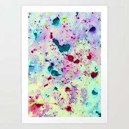 Paint Splatters Art Print