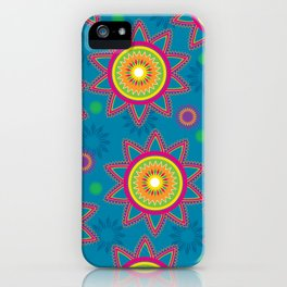 Moroccan Flower Blue iPhone Case