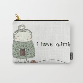 I love knitting Carry-All Pouch