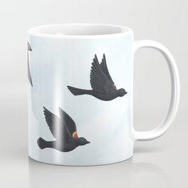 red-winged blackbirds and blue sky Coffee Mug
