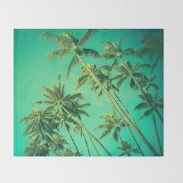 Palm Trees  Throw Blanket