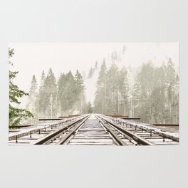 Railway in the forest Rug