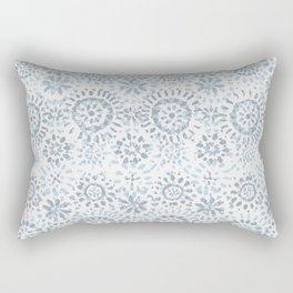 Dhalia - Blue Rectangular Pillow