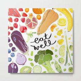 Eat Well Metal Print