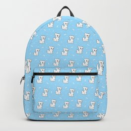 Cute sitting puppy dog Backpack