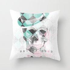 LDN Skull Throw Pillow