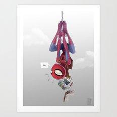 Spiderman, Back to School Art Print